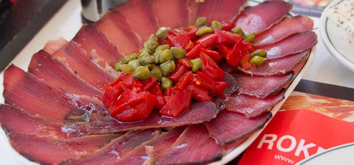 Слайсы из филе тунца