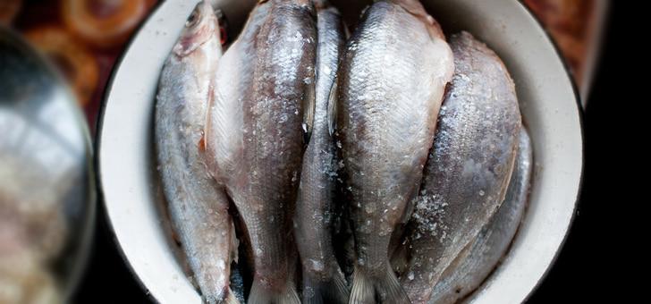 классическая сухая засолка рыбы