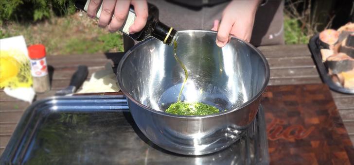 Маринад из зелени и оливкового масла