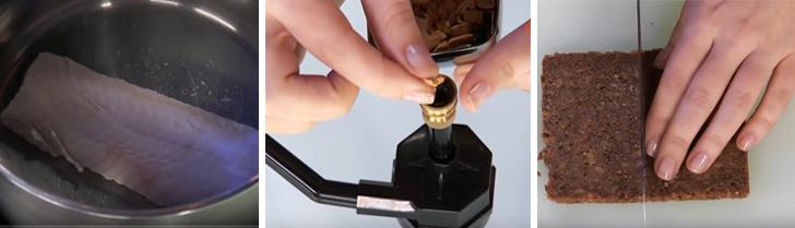 Процесс приготовления стерляди