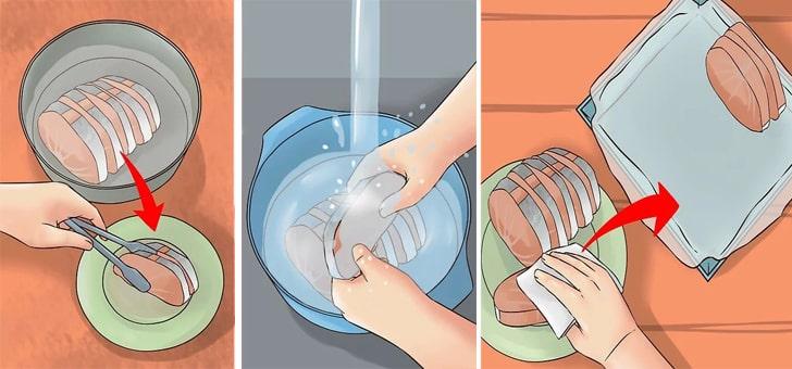 Промывка и просушка филе