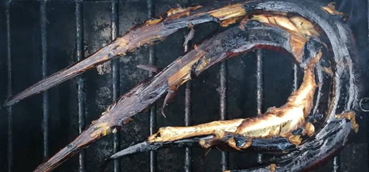 рыба-игла горячего копчения