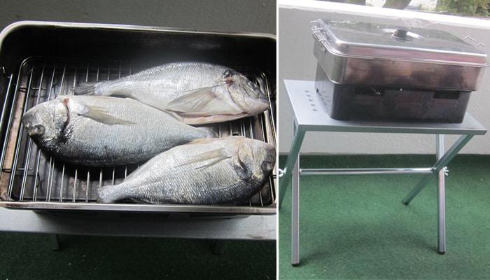 Копчение рыбы в походной коптильне