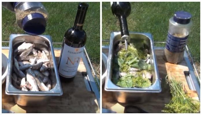 Рыба в вином маринаде