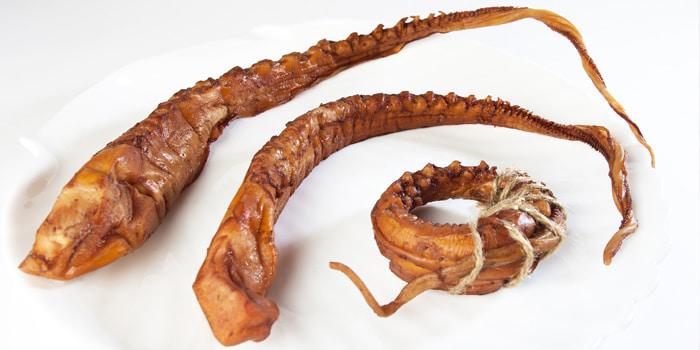 Щупальца осьминога холодного копчения