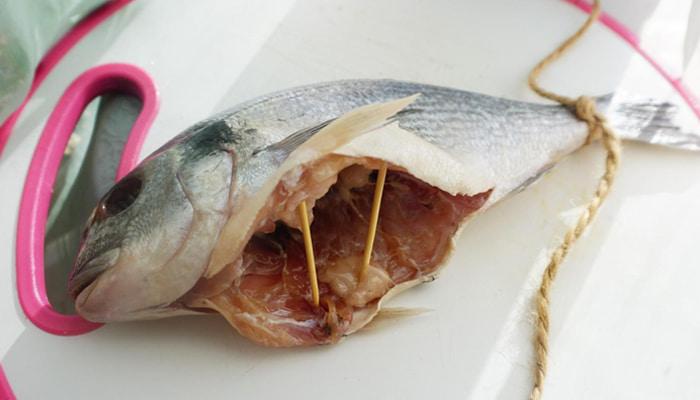 Установка распорок в рыбу