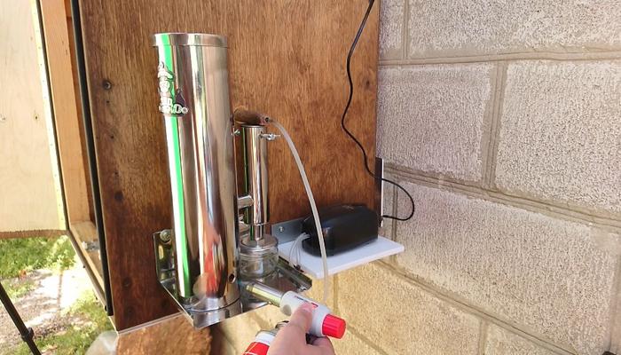 Розжиг щепы в дымогенераторе