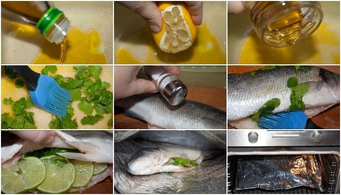Копчение сибаса в духовке
