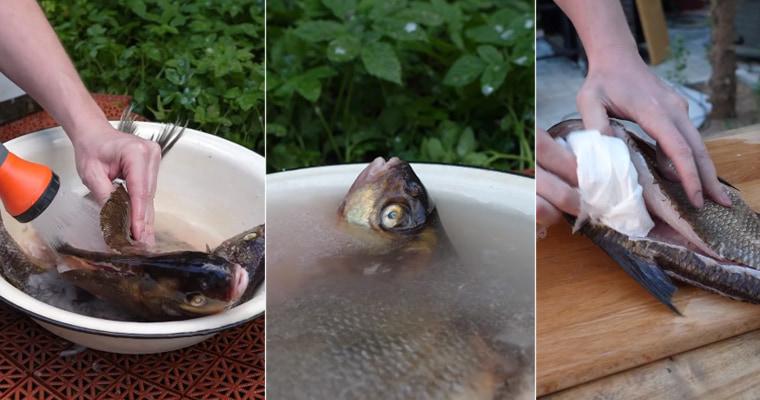 Промывка, вымачивание и просушка рыбы