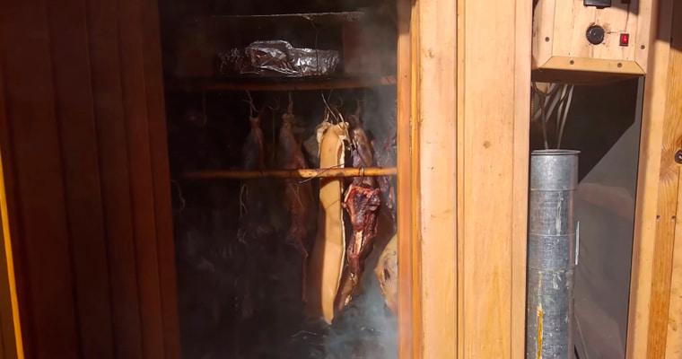 Холодное копчение бобрятины и свинины