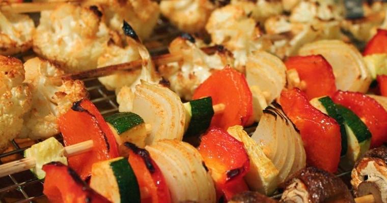 Копчение овощей на шпажках