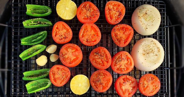 Копчение овощей