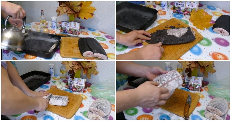 Подготовка хвоста бобра к копчению