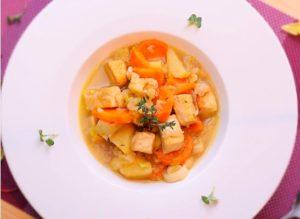 Суп с копченным тофу