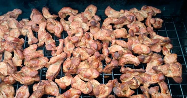Копченые куриные желудки