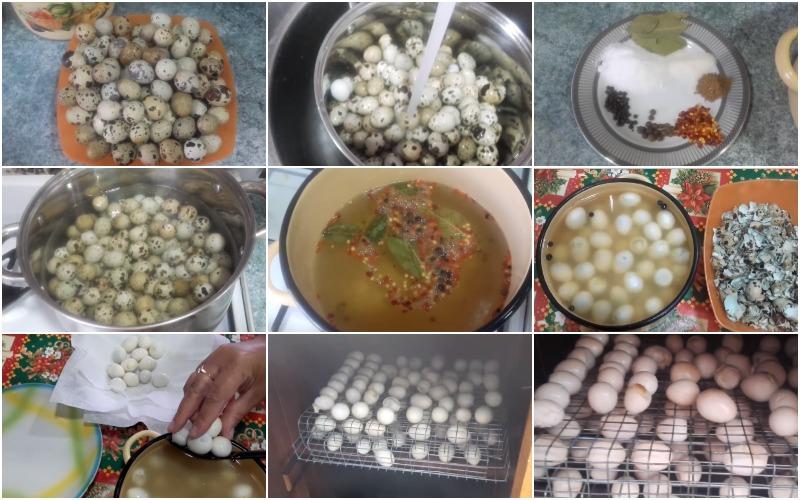 Холодное копчение перепелиных яиц