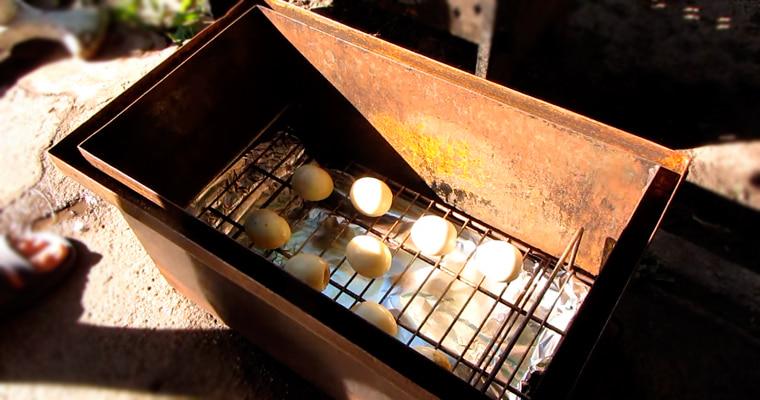 Яйца в коптильне
