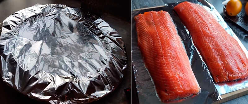 Филе рыбы в тарелочках из фольги
