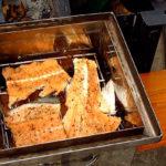 Хребты в коптильне горячего копчения