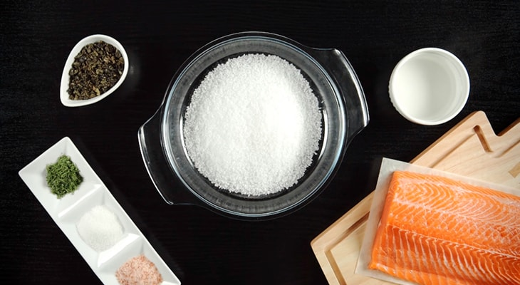 Ингредиенты для копчения лосося