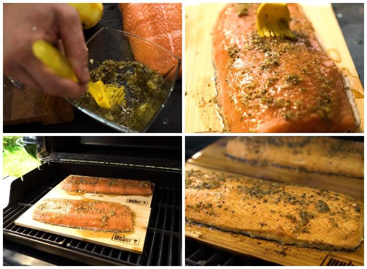 Копчение филе лосося на газовом гриле