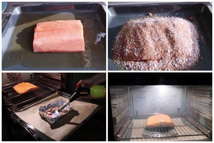 Копчение лосося в духовке