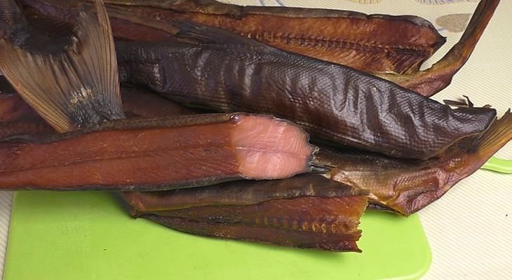 Копченый балык лосося