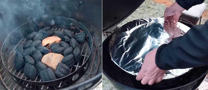 Розжиг угля в мангале