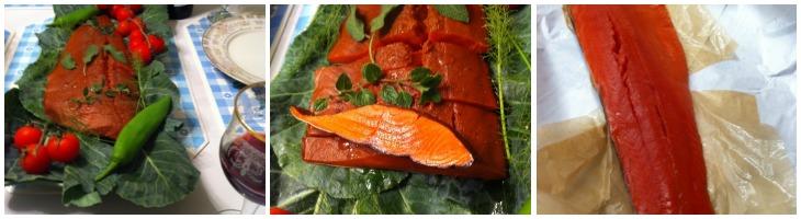 Сырокопченый лосось