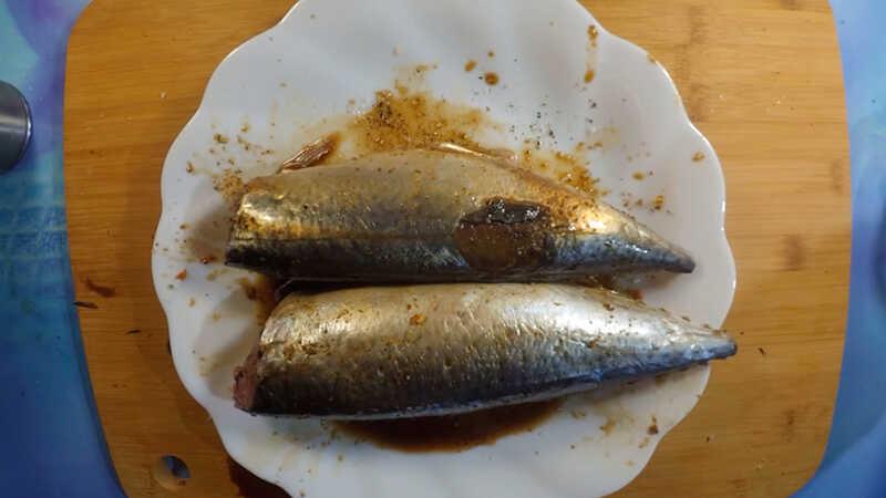 Добавление жидкого дыма к рыбе