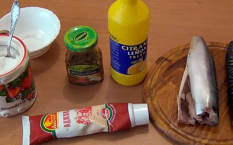 Ингредиенты для маринада по-французски