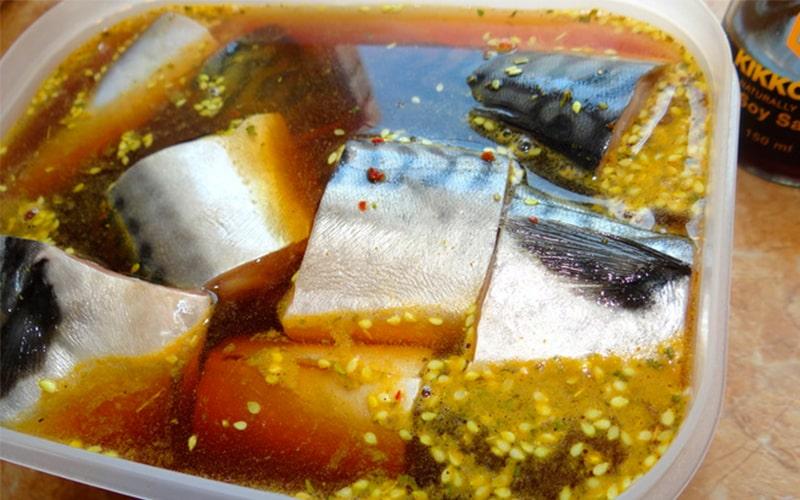 Маринование рыбы с соевым соусом