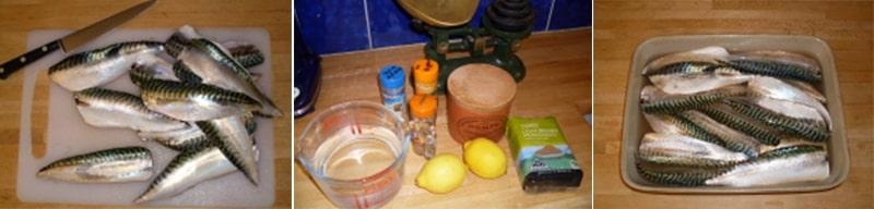 Маринование скумбрии с луковым и чесночным порошком