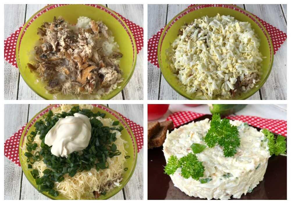Приготовление салата с рисом и сыром