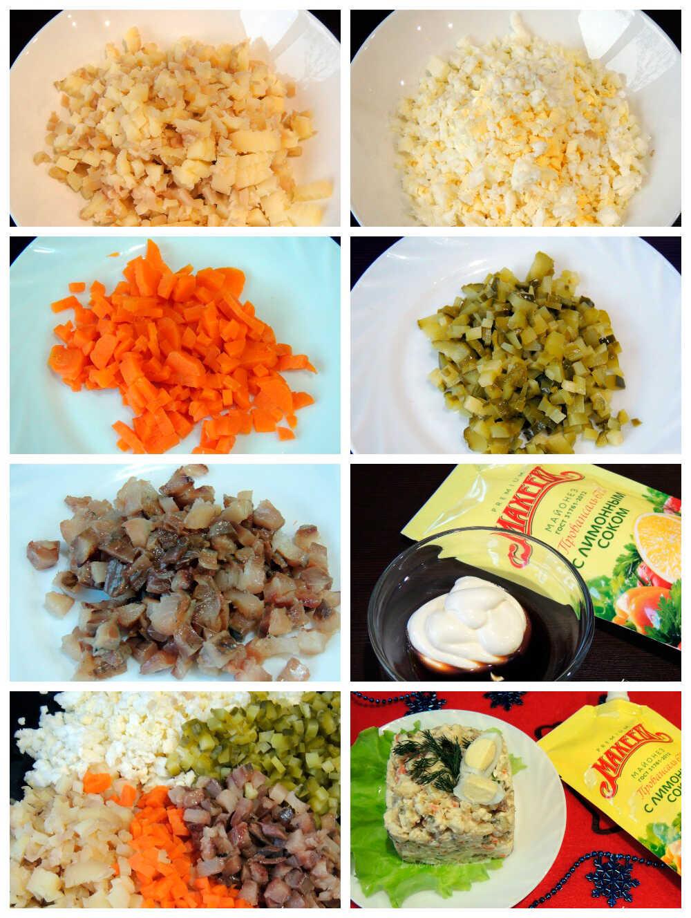 Приготовление салата с заправкой из соевого соуса
