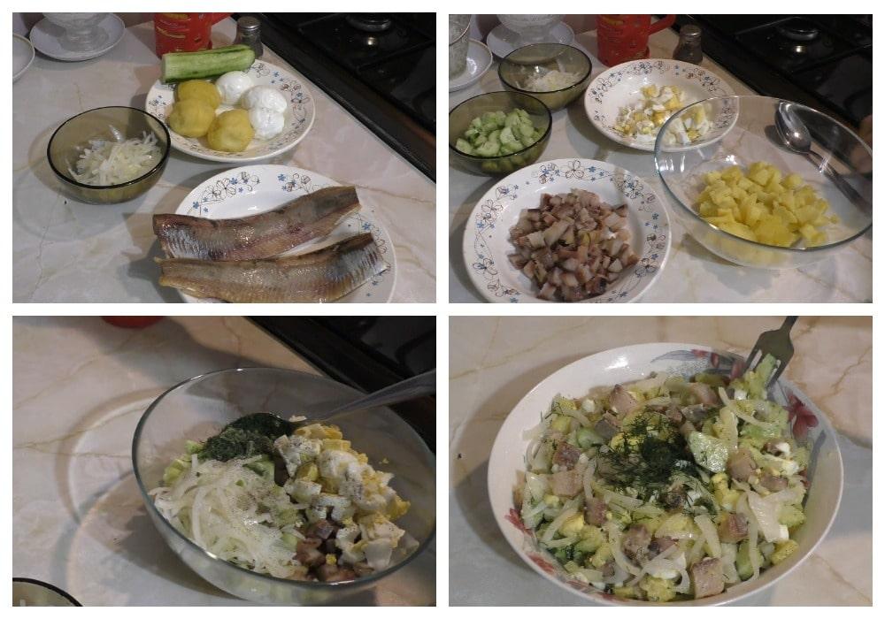 Приготовление салата «Сельский»