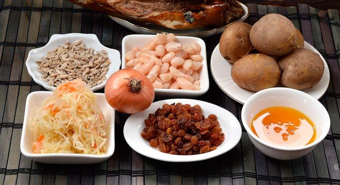 Ингредиенты для «Зимнего» салата