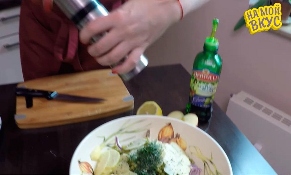 Солят и перчат салат