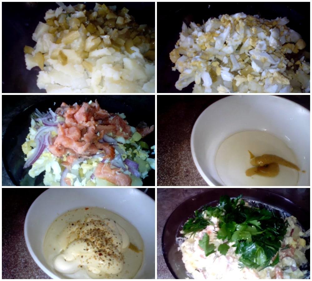 Пошаговое приготовление салата с горчичной заправкой