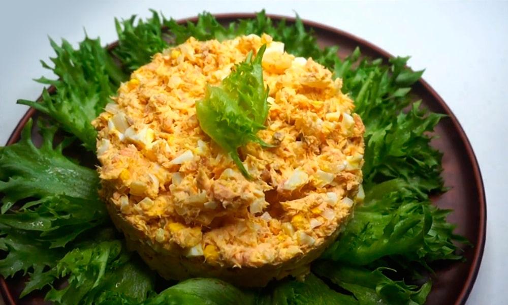 Сытный салат «Нежная рыбка»